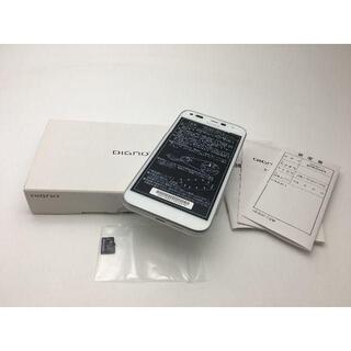 キョウセラ(京セラ)の【新品未使用】ワイモバイル DIGNO E 503KC ホワイト 314(スマートフォン本体)