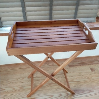 SCANTEAK 脚付きトレイ  /カフェトレー テーブル