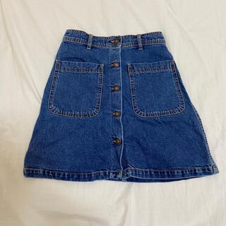 ザラ(ZARA)のZARA デニムスカート XS 美品(ひざ丈スカート)