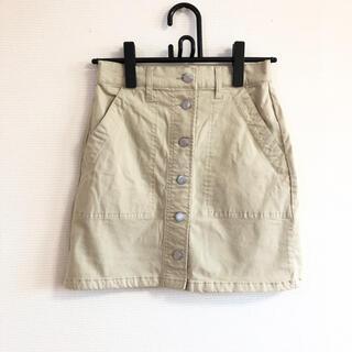 ウィゴー(WEGO)の【WEGO】台形スカート ベージュ(ミニスカート)