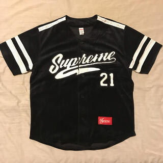 シュプリーム(Supreme)のSupreme Velour Baseball Jersey ベースボール(シャツ)