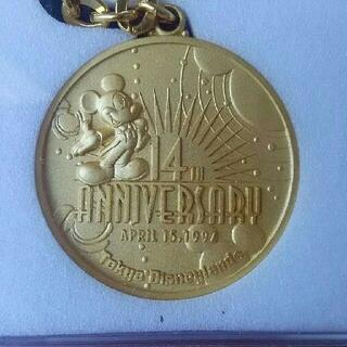 ディズニー(Disney)のTDL 【14周年】メダルキーチェーン 東京ディズニーランド(キャラクターグッズ)