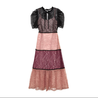 snidel - her lip to multicolored lace dress