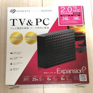 エレコム(ELECOM)の外付けHDD 2TB Seagate SGD-NZ020UBK(テレビ)