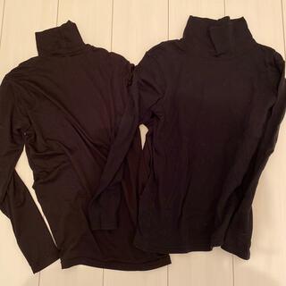 ユニクロ(UNIQLO)のハイネックインナー 2枚セット 黒(アンダーシャツ/防寒インナー)