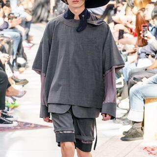 サカイ(sacai)の【求】20ss プルオーバー ブラック 20-02183M サイズ2(Tシャツ/カットソー(半袖/袖なし))
