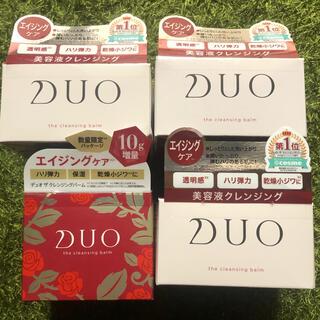 DUO デュオ ザ クレンジングバーム エイジングケア 赤 4箱 90g(クレンジング/メイク落とし)