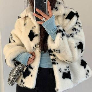 スタイルナンダ(STYLENANDA)の韓国ファッション♡ダルメシアンファージャケット(毛皮/ファーコート)