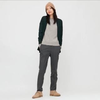 ユニクロ(UNIQLO)の【新品】カシミヤクルーネックセーター(長袖)L(ニット/セーター)