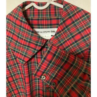 COMME des GARCONS - コムデギャルソン GIRL 試着のみ Sサイズタータンチェックオーバーシャツ
