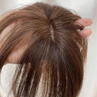 高級人毛100%総手植えヘアピース(前髪ウィッグ)