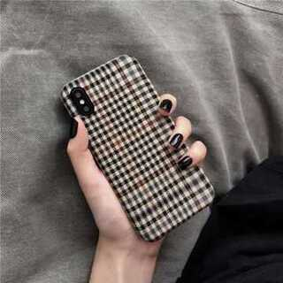 iphone ケース シンプルなチェック柄 iPhoneXR(iPhoneケース)