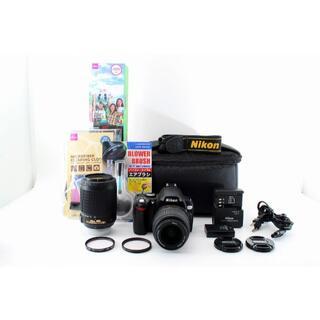 ニコン(Nikon)の599ほぼ新品★Nikon ニコン D40X ダブルズームレンズ(デジタル一眼)