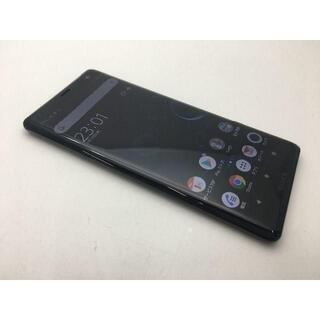 ソニー(SONY)の【SIMフリー】美品 au Xperia XZ3 SOV39 ブラック 286(スマートフォン本体)