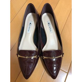 ダイアナ(DIANA)のDIANA エナメルフラットパンプス(ローファー/革靴)