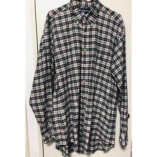ポロラルフローレン(POLO RALPH LAUREN)のUSED 90s ラルフローレン 刺繍ロゴ チェックシャツ(シャツ)