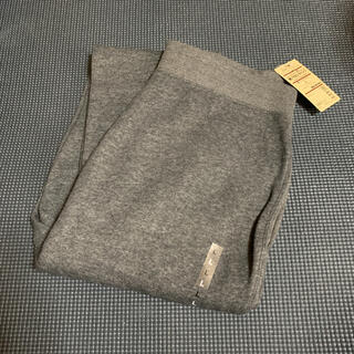 MUJI (無印良品) - 無印良品 ストレッチ裏毛裾リブロングパンツ  L