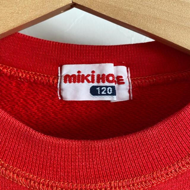 mikihouse(ミキハウス)のミキハウス トレーナー 120 レトロ スエット プッチーくん 赤 キッズ/ベビー/マタニティのキッズ服男の子用(90cm~)(その他)の商品写真