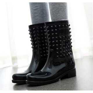 滑り止めの靴 フラット ピンヒール sweet系 レインシューズ(レインブーツ/長靴)