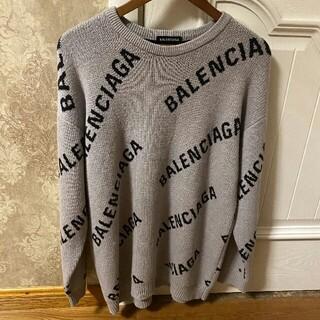 Balenciaga - 入手困難 希少 BALENCIAGA バレンシアガ ロゴ入りニット クルーニット