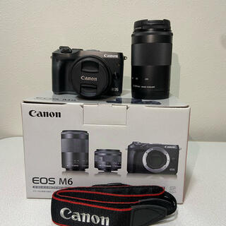 Canon - Canon EOS M6 Wズームキット BK