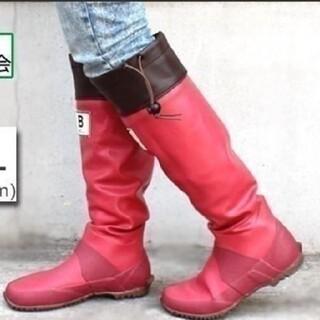 【新品・おまけ付】日本野鳥の会レインブーツ レッド(レインブーツ/長靴)