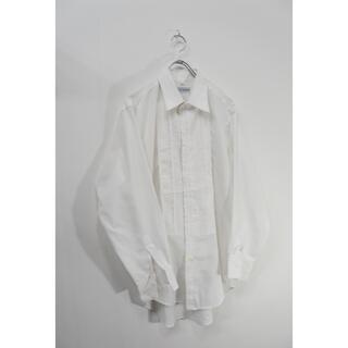 90s white frill shirt vintage