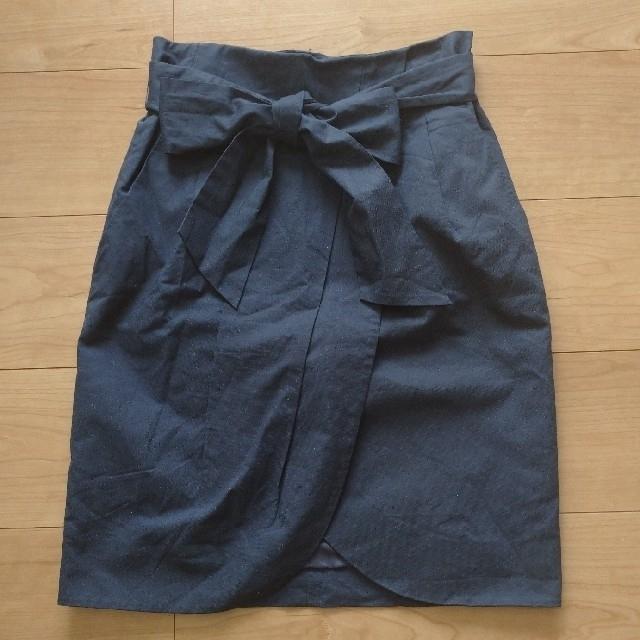 IENA(イエナ)のIENA  リネン ラップ風スカート サイズ36 レディースのスカート(ひざ丈スカート)の商品写真