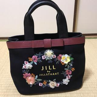 JILL by JILLSTUART - ジルバイジルスチュアート トートバッグ 花柄刺繍 ブラック 黒