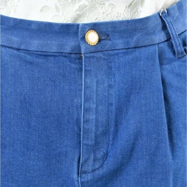 franche lippee(フランシュリッペ)の<ごじらくん様専用> franche lippee まあるいフリルデニムパンツ レディースのパンツ(デニム/ジーンズ)の商品写真