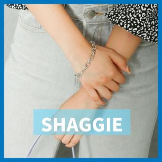 新品【SHAGGIE】リング チェーン レディース ブレスレット シルバー(ブレスレット/バングル)