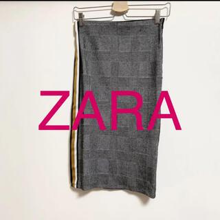 ザラ(ZARA)のZARA千鳥格子柄スカート(ひざ丈スカート)