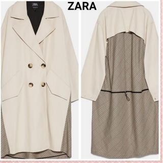 ザラ(ZARA)のZARA オーバーサイズ仕様コントラストトレンチコート (トレンチコート)