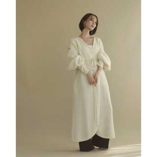 トゥデイフル(TODAYFUL)のlouren mohair long knit cardigan(カーディガン)