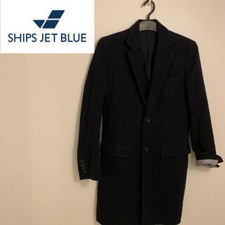 シップスジェットブルー(SHIPS JET BLUE)のSHIPS シップス チェスターコート ネイビー sizeS (チェスターコート)