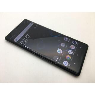 ソニー(SONY)のSIMフリー美品au Xperia XZ3 SOV39 ブラック 422(スマートフォン本体)