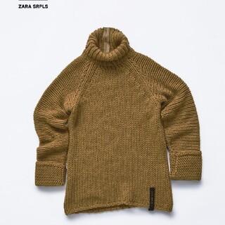 ザラ(ZARA)のZARA SRPLS ブラウン ニット M セーター ザラ ざっくりニット (ニット/セーター)