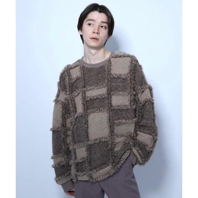 HARE(ハレ)のHARE パッチワークニットソー メンズのトップス(ニット/セーター)の商品写真