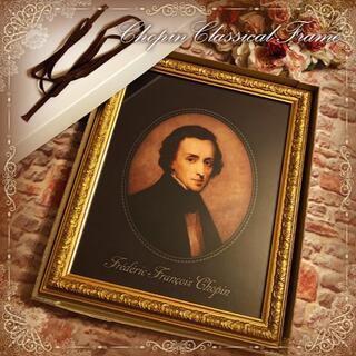 ショパンのエレガントなゴールド額 箱付き新品未使用品 ピアノの詩人 肖像画