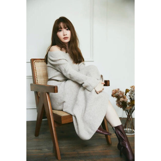 herlipto Wholegarment knit Dress beige S