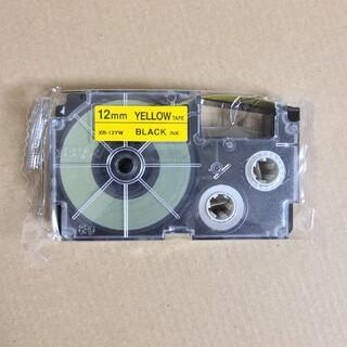 カシオ(CASIO)のCASIO ネームランド テープ 黄色 12mm(オフィス用品一般)