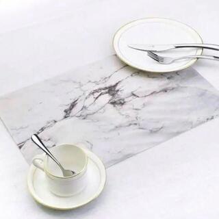 【インスタ映え】 大理石柄 ランチョンマット 2枚(テーブル用品)