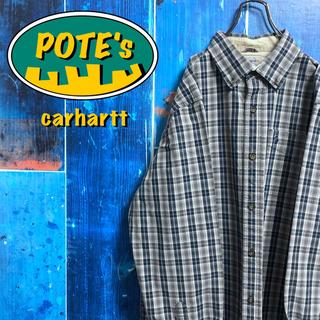 カーハート(carhartt)の【カーハート】ワンポイント刺繍ロゴ・ロゴタグ入りワークチェックシャツ(シャツ)