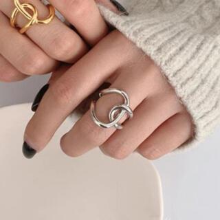 シップス(SHIPS)のR01シルバー シンプルクロスリング  指輪 フリーサイズ シルバー925(リング(指輪))