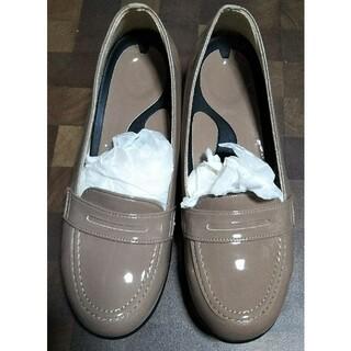 リゲッタ(Re:getA)のリゲッタ 快適ウェッジローファー エナメルベージュ M(ローファー/革靴)