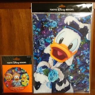 ディズニー(Disney)のイマジニングザマジック イマジニング ドナルド クリアファイル 三人の騎士(キャラクターグッズ)