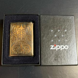 ジッポー(ZIPPO)の【新品未使用品】2005年製 ZIPPO 24金メッキ 3ミクロン(タバコグッズ)