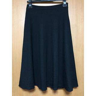 ノーリーズ  ウールフレアスカート  黒 36
