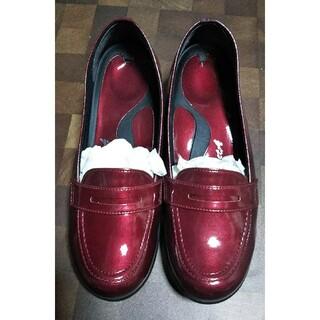 リゲッタ(Re:getA)のリゲッタ 快適ウェッジローファー エナメルボルドー M(ローファー/革靴)
