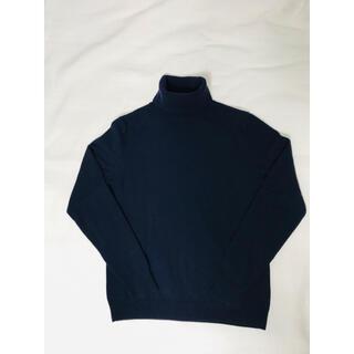 ユニクロ(UNIQLO)のUNIQLO カシミア  100% タートルネックセーター ネイビー (ニット/セーター)